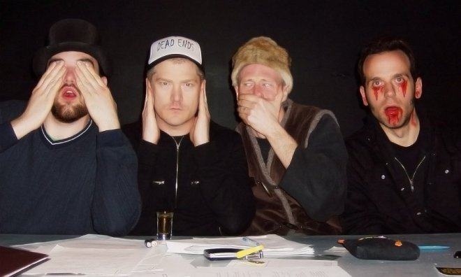 Michael Cope, Simon C. Hussey, Desmond Hussey and Blake Drezet.